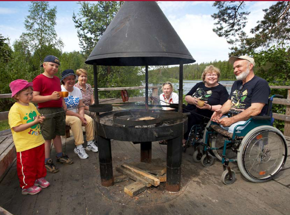 North Karelia project photo outdoor barbecue