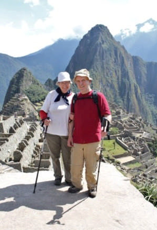 R. Leidner and wife at Machu Picchu
