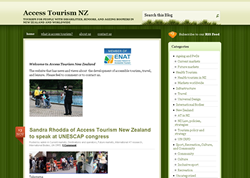 Screenshot of the Access Tourism NZ Website