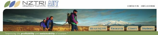 Banner image of New Zealand Tourism Research Institute