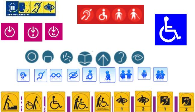 image of accessible tourism labels from Via Libre report