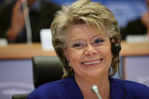 photo of EU Vice-President Vivian Reding