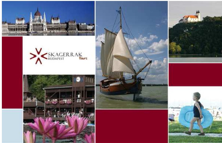 photo collage Skagerak Tours, Lake Balaton