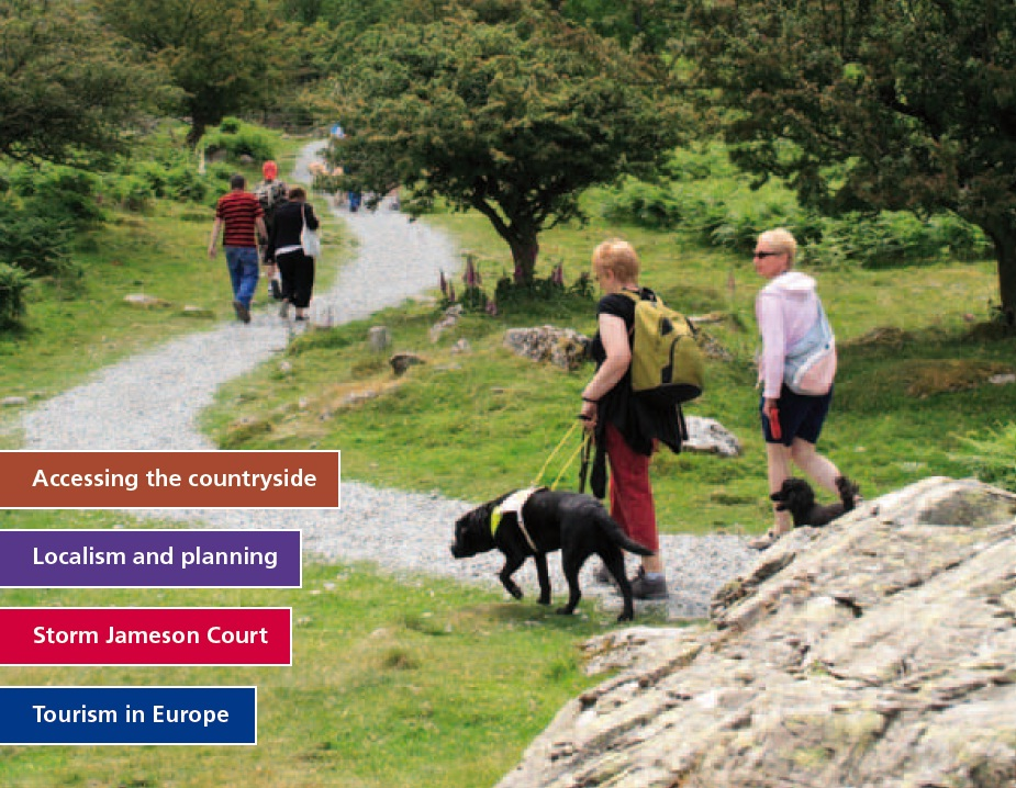 Cover photo walking with guide dog