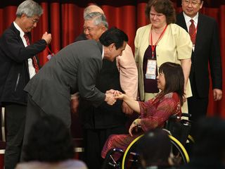 Taiwan President meets delegates