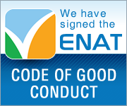 We have signed the ENAT Code of Good Conduct - badge