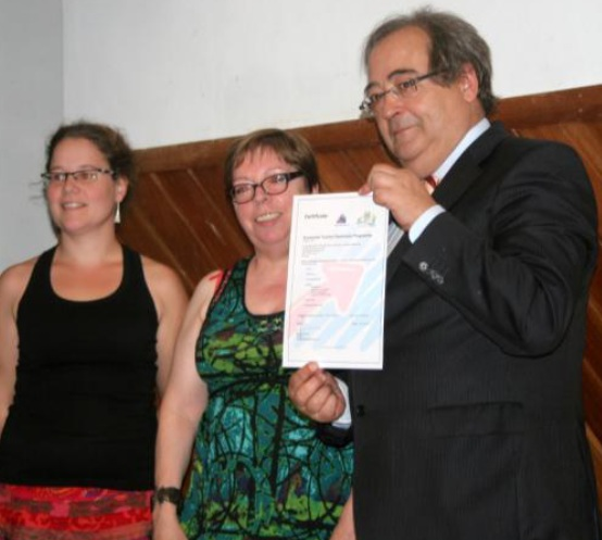 Presentation of accessible tourism certificate in Lousa