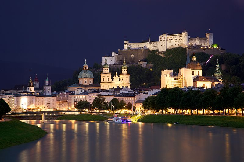 Photo: Old Town Salzburg across the Salzach river by Jiuguang Wang.