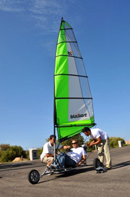 Blokart (land yachting) by Handisport