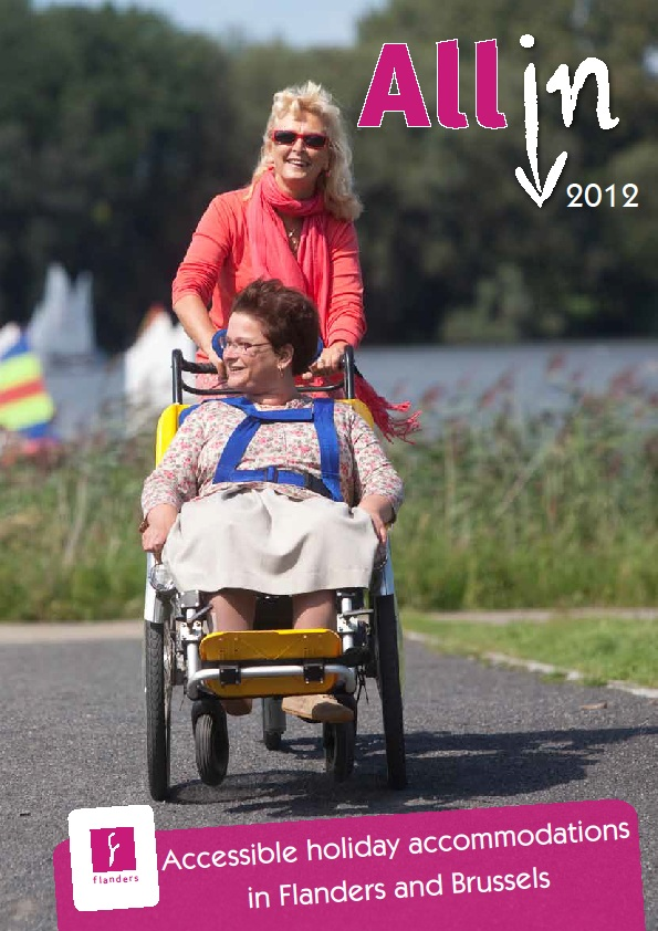"Cover photo of ""All In 2012"" Accessible Accommodation Guide by Tourism Flanders"