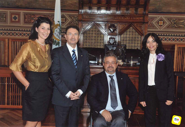 UNWTO and V4A representatives in San Marino