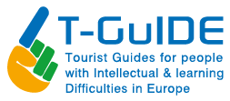 T-GuIDE logo with pointing hand showing the way