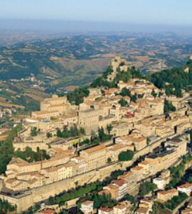 Aerial view of San Marino