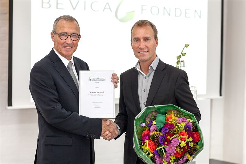 Photo of Mathiesen and Svanberg, Scandic receives Bevica award