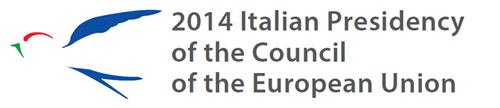 Italian presidency of the eu 2014 logo