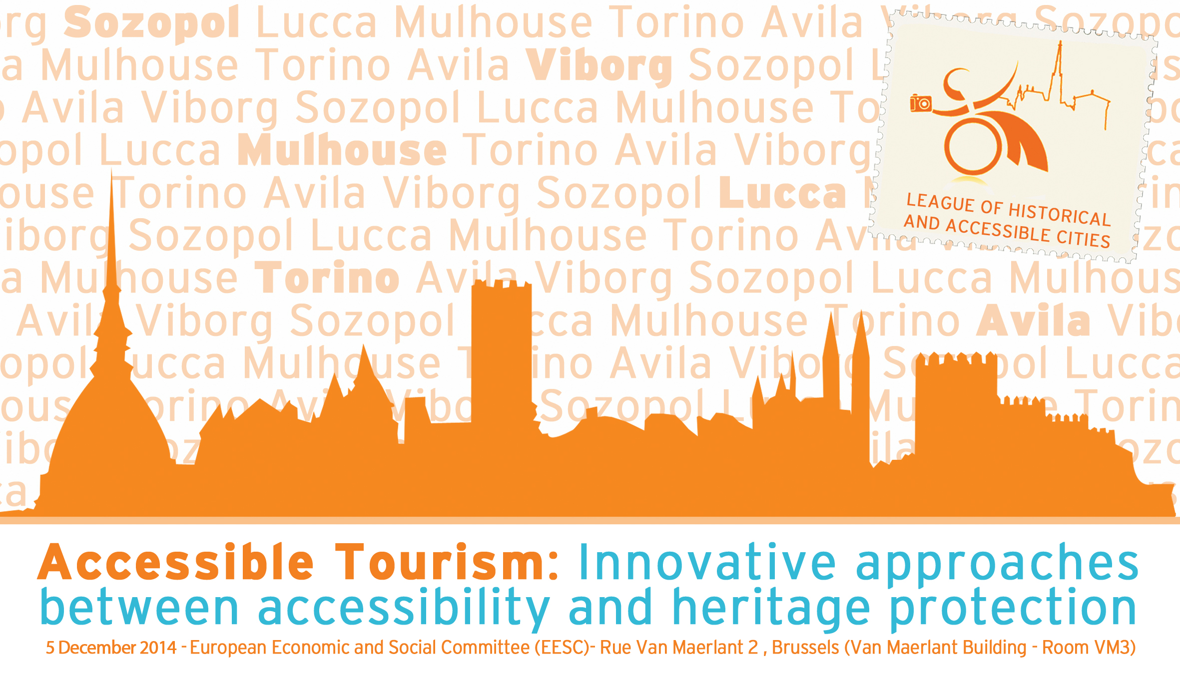 League of Historical Accessible Cities conference banner