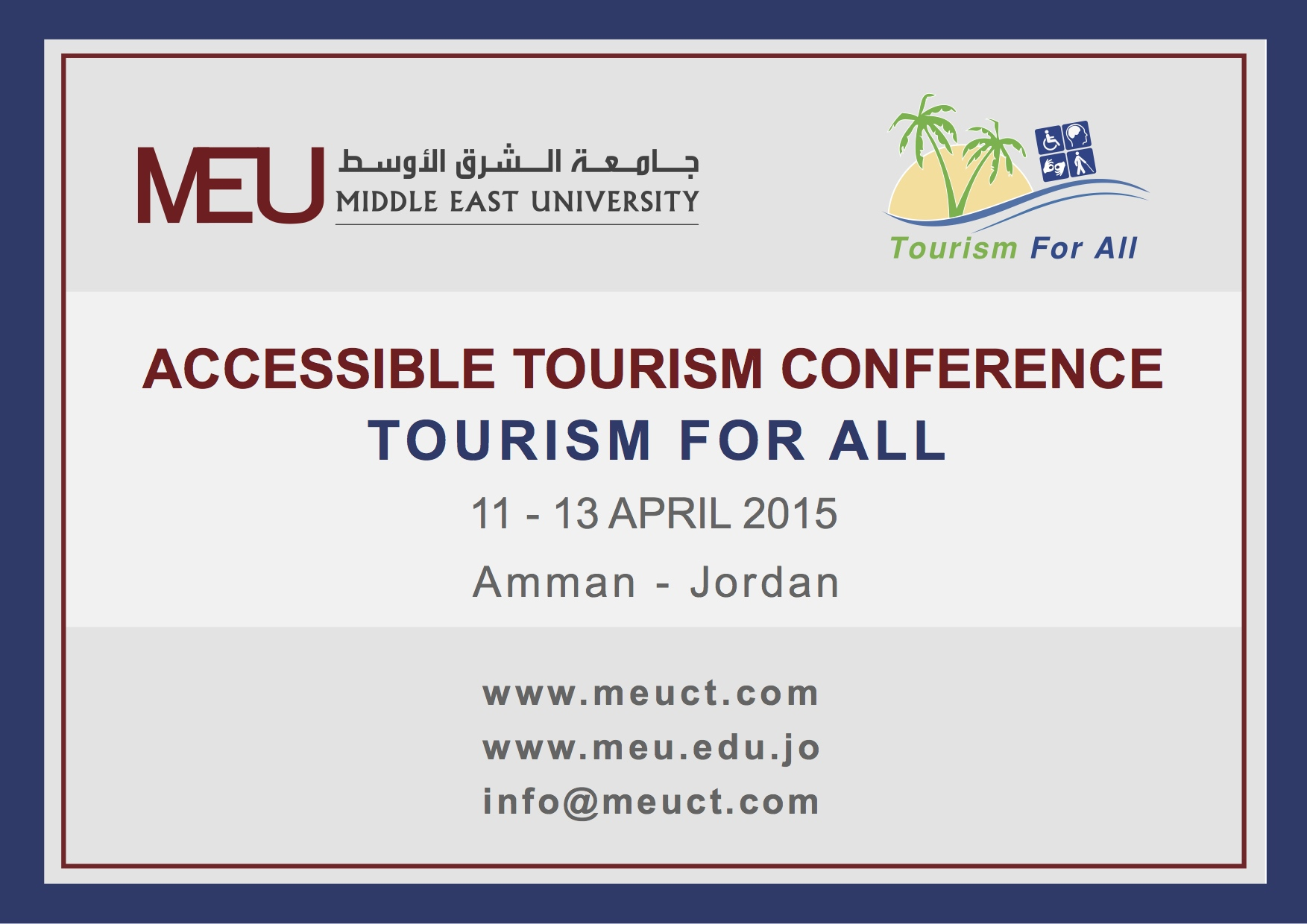 MEU Accessible Tourism Conference banner