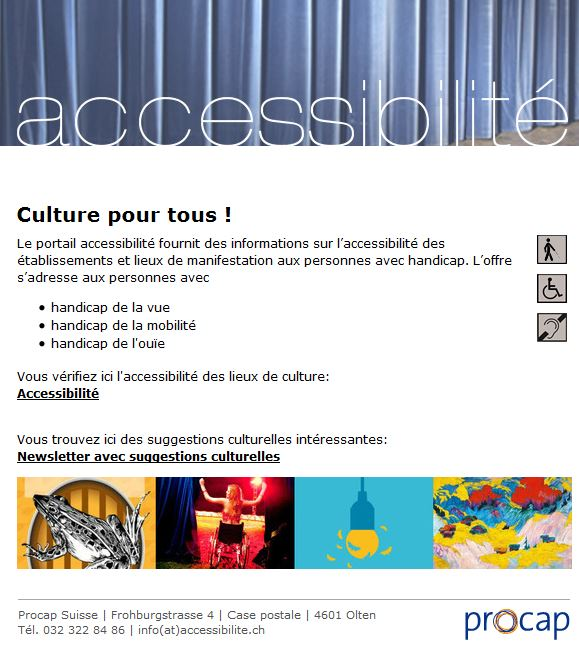 Imager of PROCAP Accessibilite website