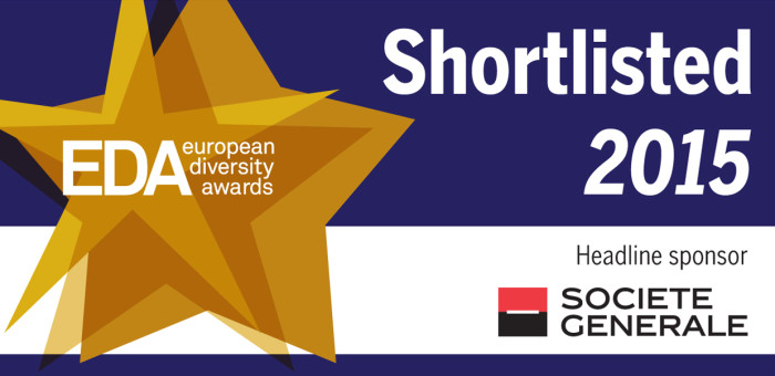 European Diversity Award 2015 shortlisted banner