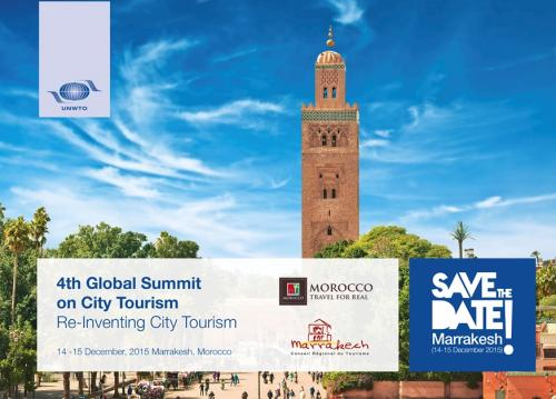 Save the date Marrakesh Global Cities Tourism banner