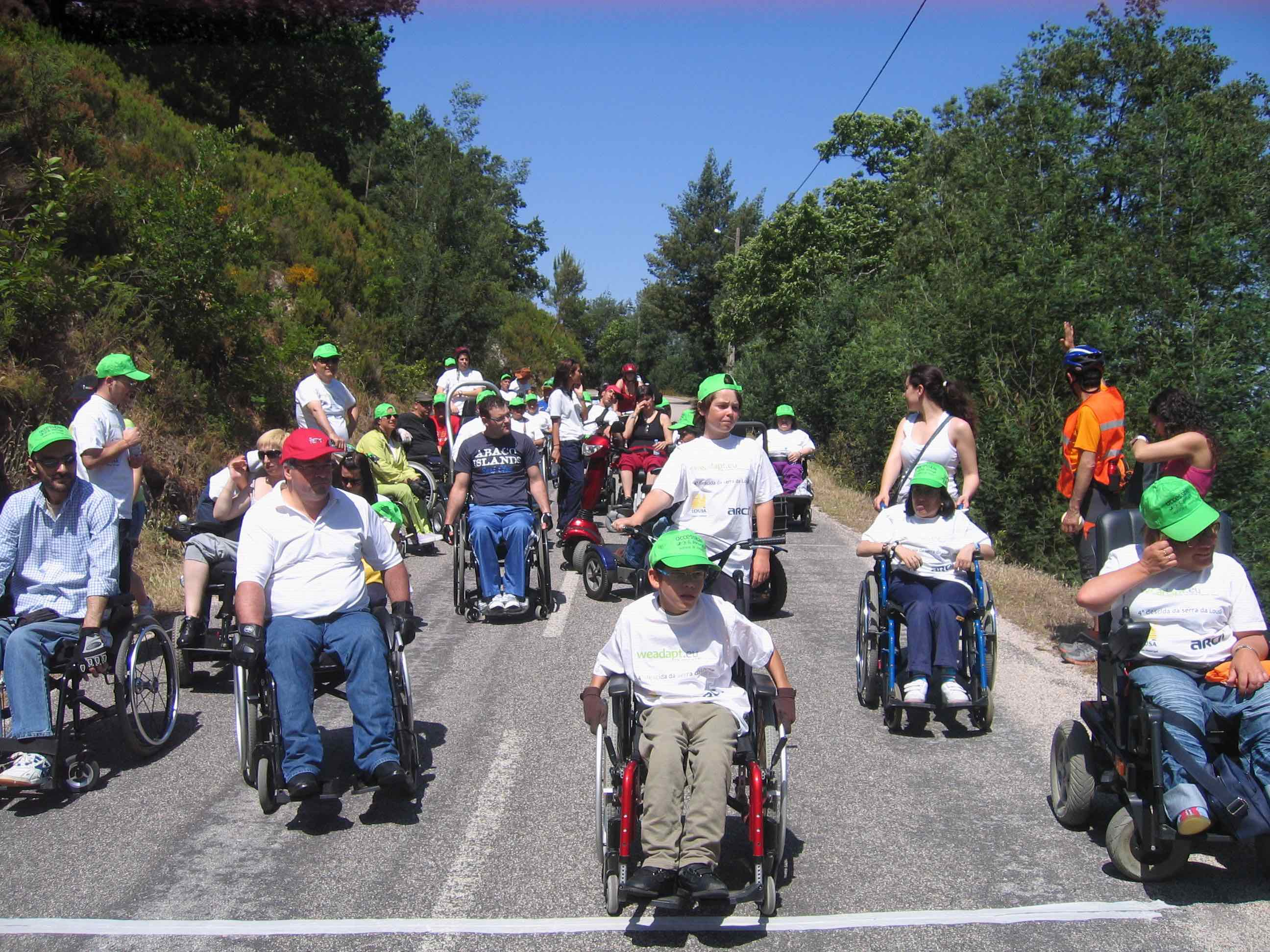 Lousa wheelchair downhill event