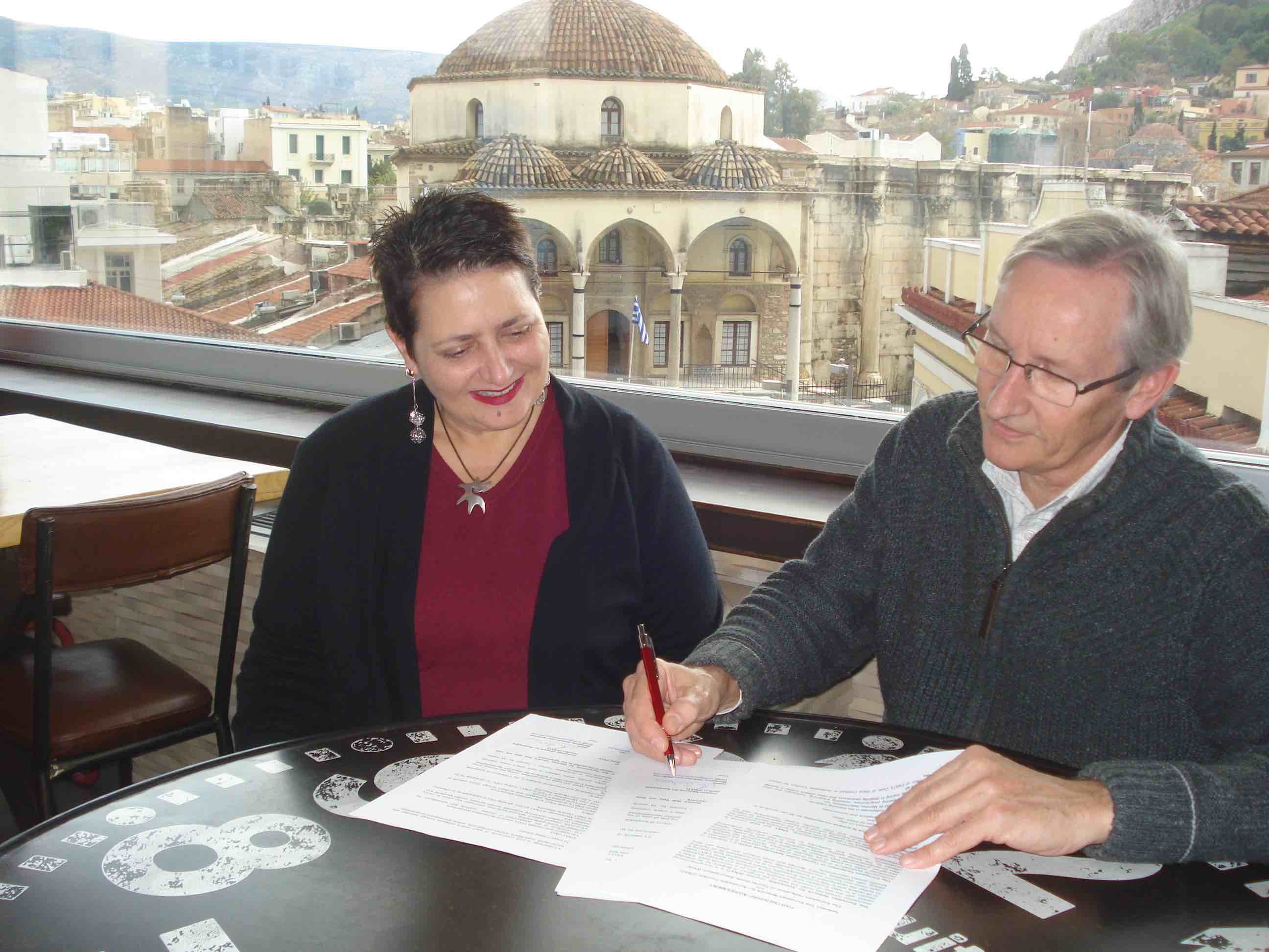 ENAT Director and FEG president sign pargnership agreement in Athens