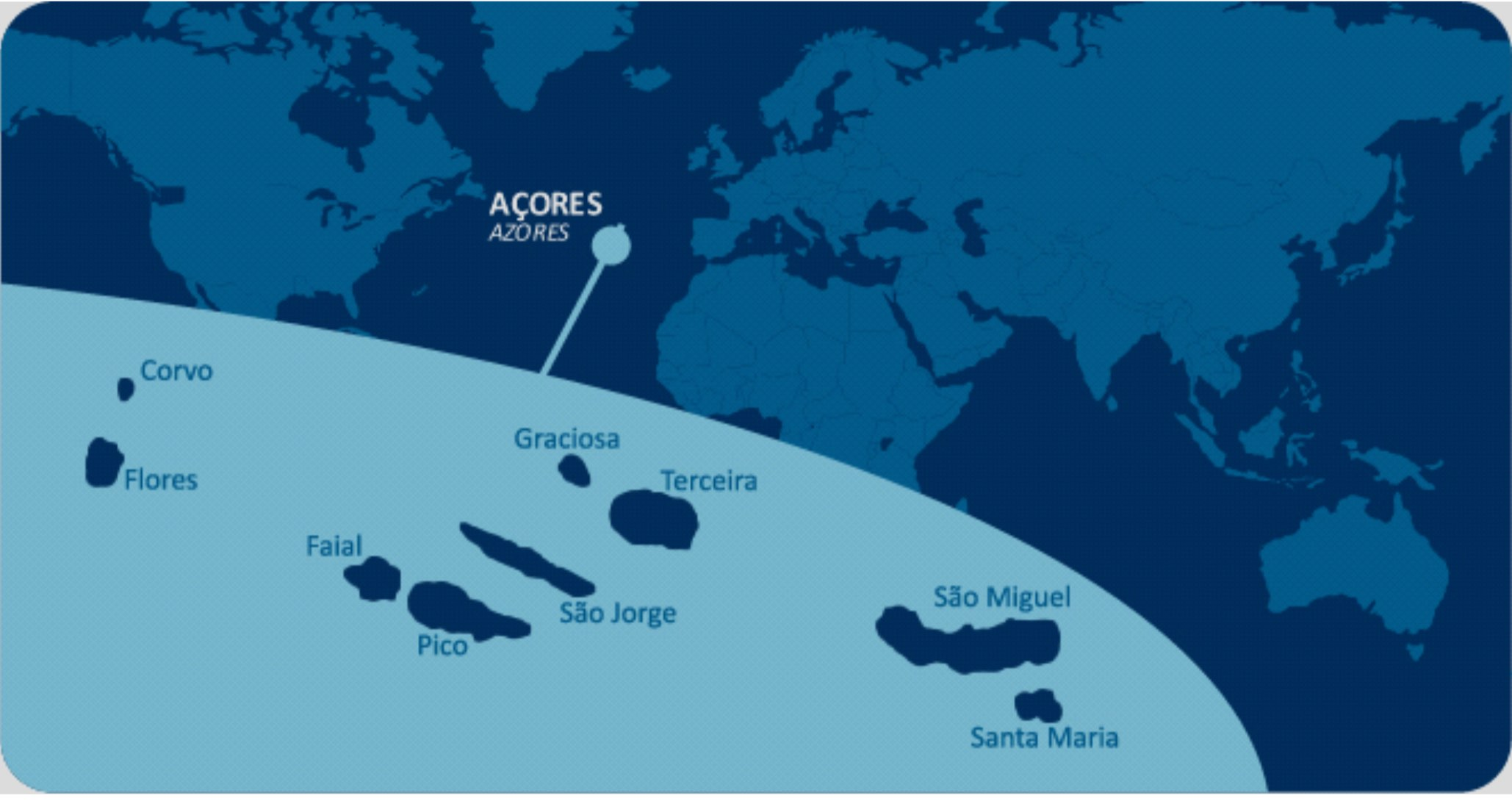 Azores location map