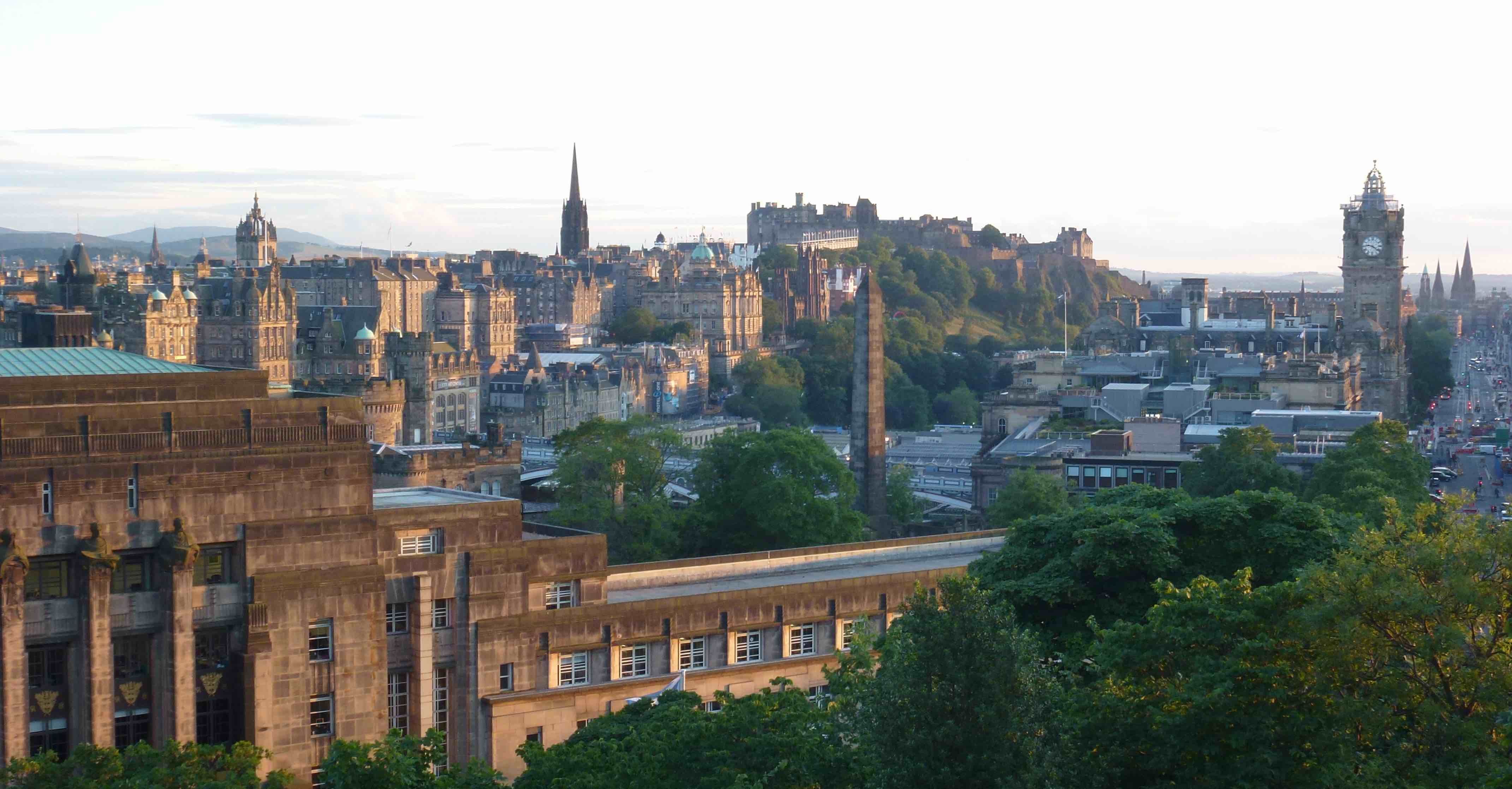 Edinburgh evening view