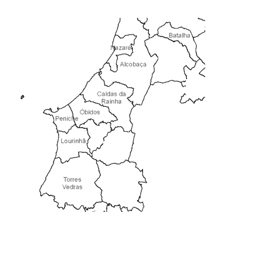 Map of Central Portugal