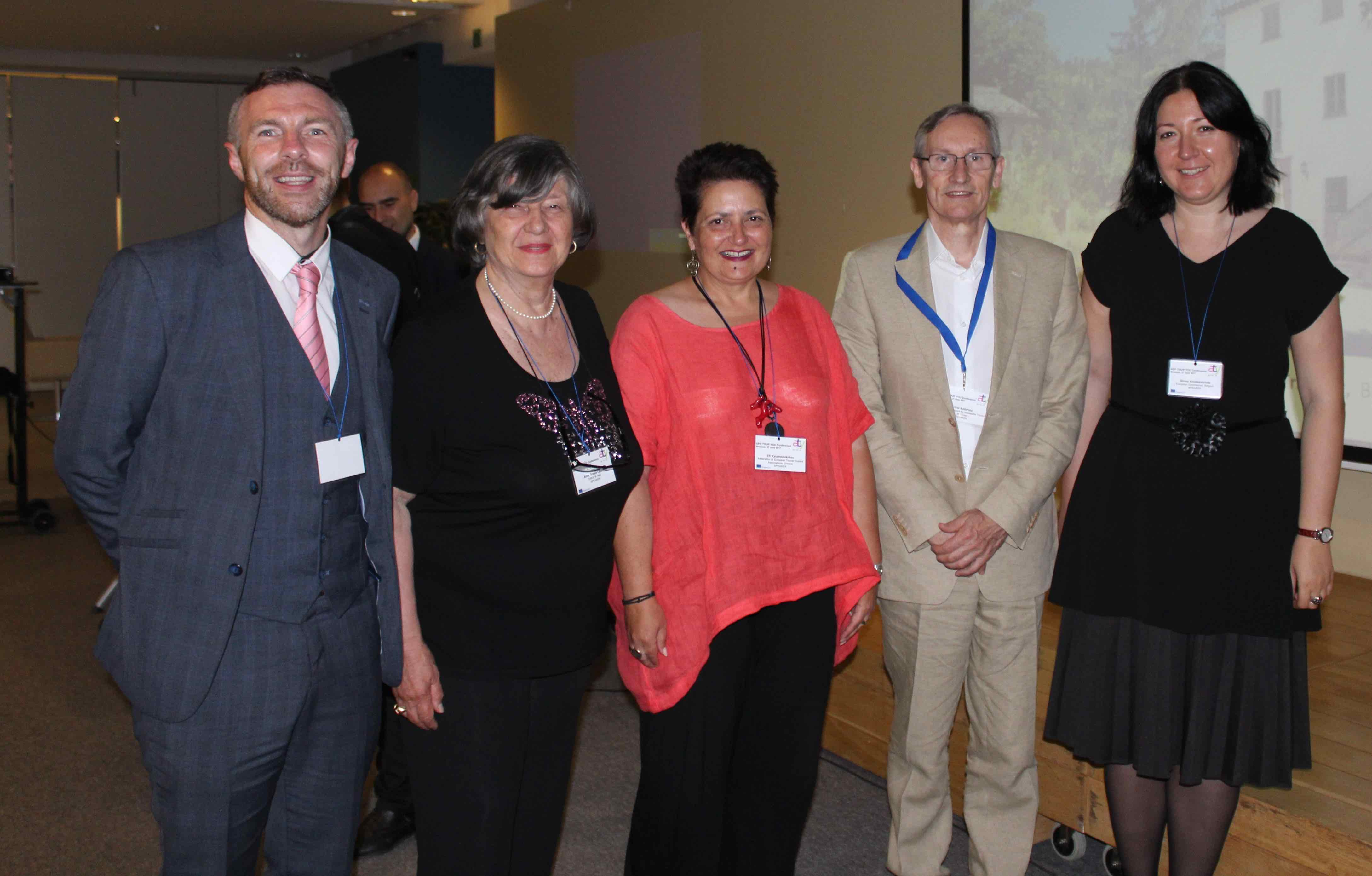 Image of delegates at Accessible Tourism Conference prior to Board Meeting