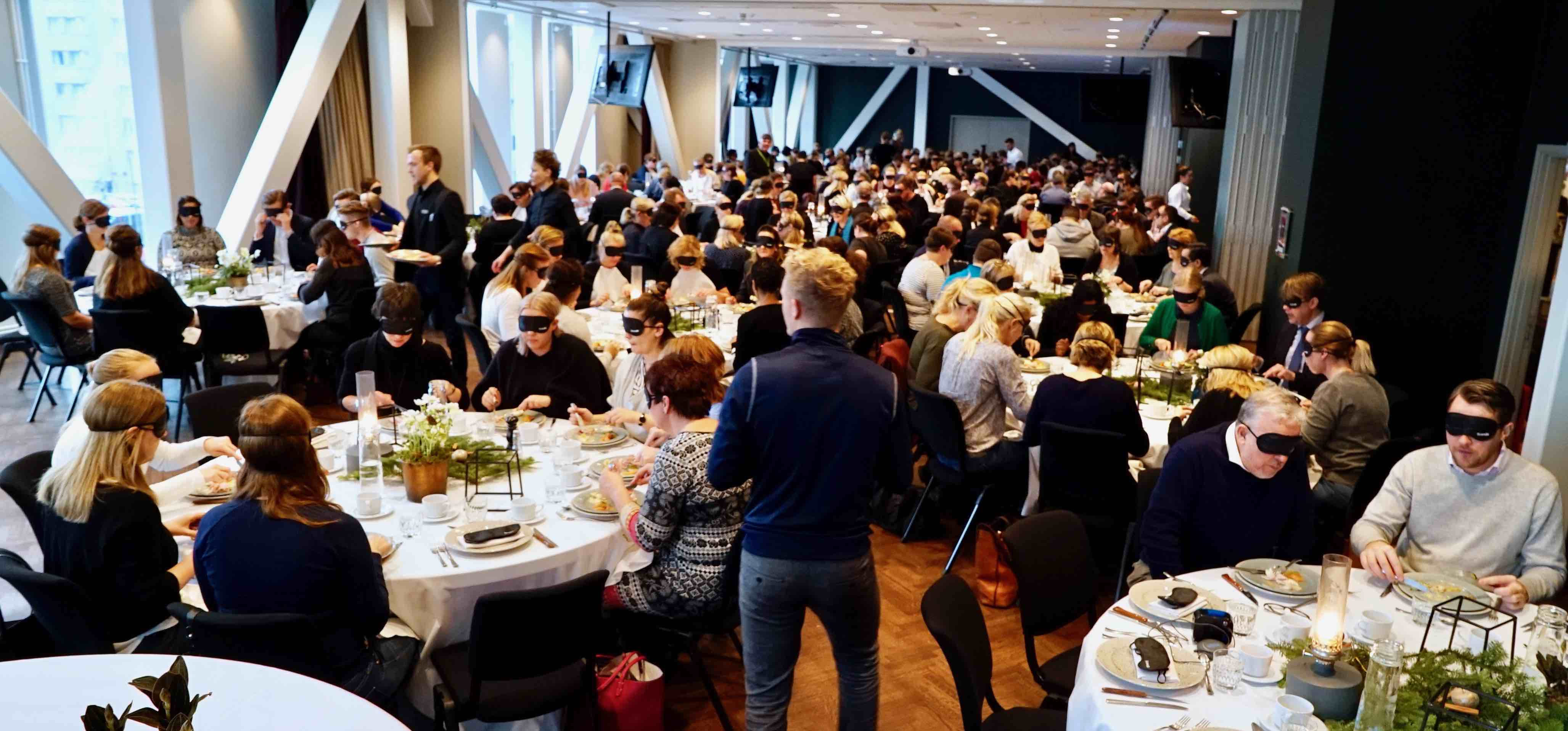 Photo of Blind lunch for 230 guests at the Scandic Continental hotel, Stockholm