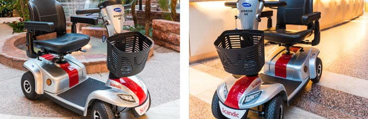 Photo of mobility scooters at Scandic