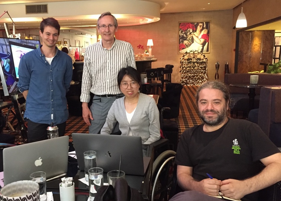 Photo of Xun Ji with ENAT and EWORX team members