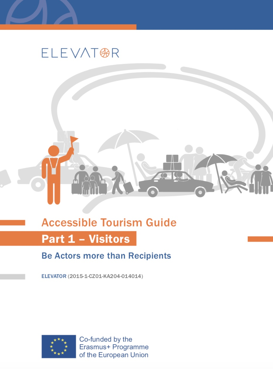 Cover image, ELEVATOR Accessible Tourism Guide 1 - Visitors