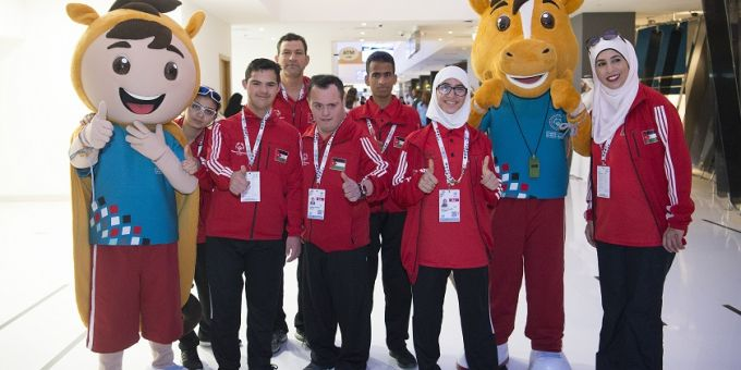 Special Olympics Middle Est North Africa Athletes at Abu Dhabi airport (Travelport)