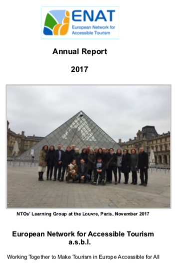 ENAT Annual Report 2107 Cover image - NTO group meeting at Louvre, Paris