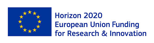European Commission H2020 EU flag and text: Horizon 2020 European Union Funding for Research and Innovation