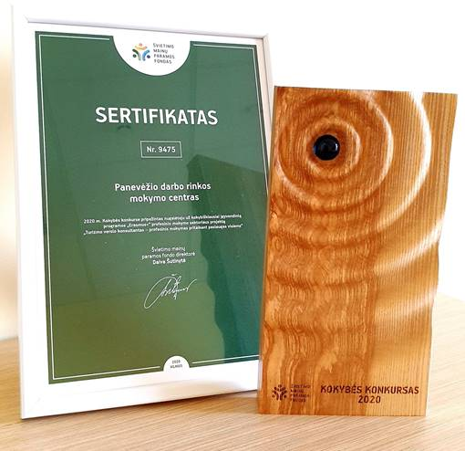 Photo TAD project highest award in Lithuania ERASMUS+