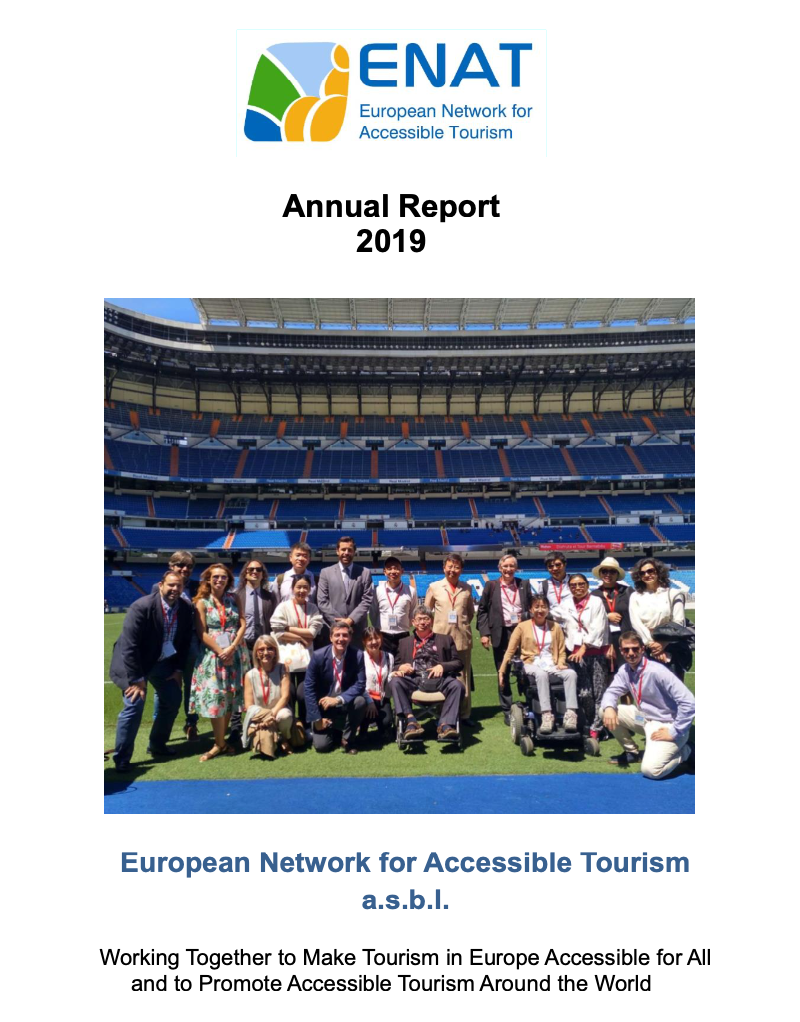 Annual Report 2019 cover photo. Chinese Study Tour to Madrid.
